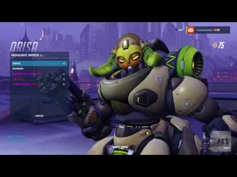 Overwatch Orisa All Skins, Emotes, Victory Poses, Sprays And Highlight Intros