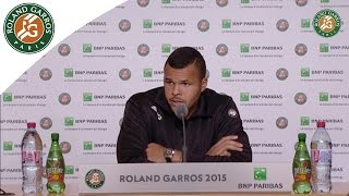 Tennis Highlights, Video - [HD]Press conference Jo-Wilfried Tsonga 2015 French Open / 4th Round