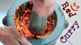Red Curry Paste Recipe - How To Make Thai Style Chili Curry