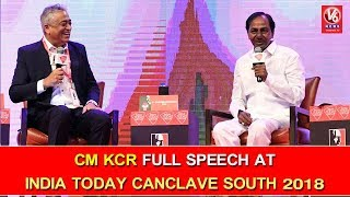 Video CM KCR Full Speech At India Today Canclave South 2018 | Hyderabad | V6 News MP3, 3GP, MP4, WEBM, AVI, FLV April 2018