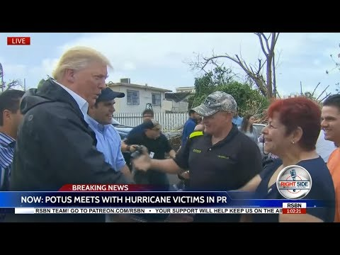 President  Donald Trump Meets with Hurricane Victims in Puerto Rico 10/3/17