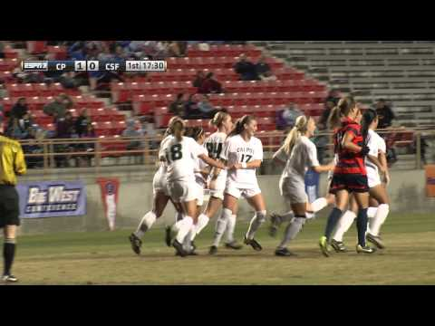 Sara Lancaster Puts Away the PK for Cal Poly