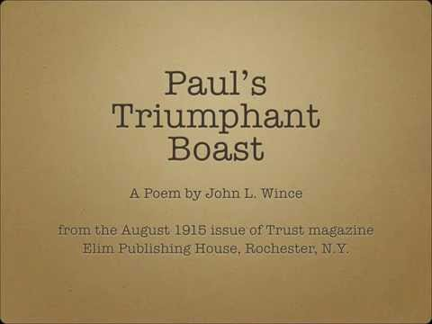 Paul's Triumphant Boast