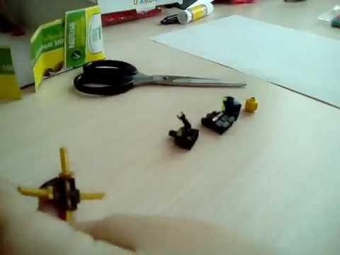 Как сделать самодельную фигурку Джея из лего ниндзяго.  Часть 1