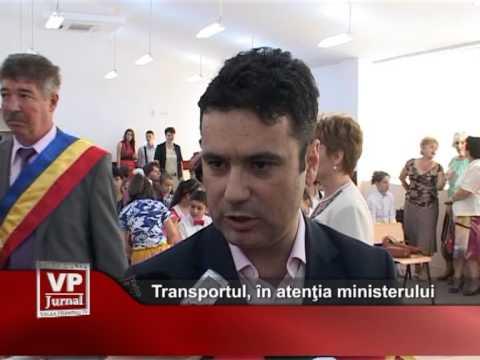 Transportul, în atenţia ministerului