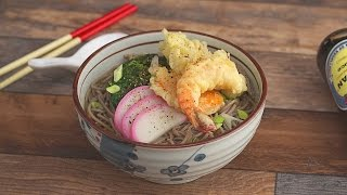 Soba Soup with Spinach and Shrimp Tempura by Tastemade