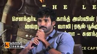Aadhi at Kochadiyaan Press Meet