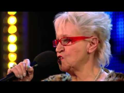 KISS MY ASS BABY -  Britain's Got Talent 2013   Kelly Fox (71 Year Old Shocks & Rocks)