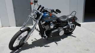 7. Used 2014 Harley-Davidson® Dyna® Wide Glide® Walk around running with Vance and Hines Exhaust