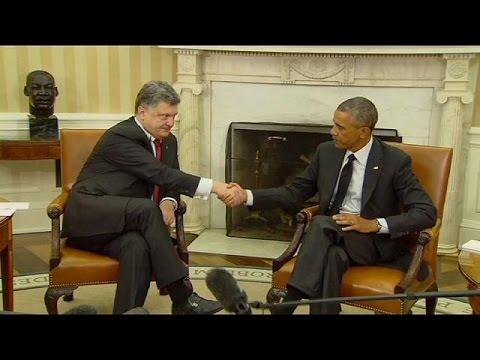 washington - The Ukrainian president Petro Poroshenko has met with US President Barack Obama at the White House. Obama pledged his support, saying: