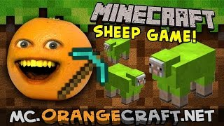 Annoying Orange plays Sheep Quest! | Minecraft Monday!