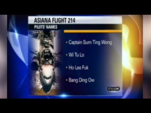 KTVU reports wrong pilot names for Asiana Airlines Flight 214 (KATG 1810