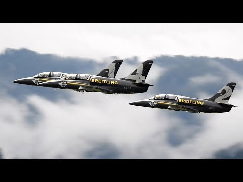Full display of Breitling Jet Team...