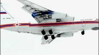 Прибытие самолета МЧС в Тюмень, после катастрофы ATR 72