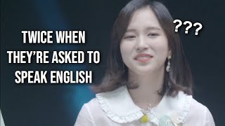 Video TWICE whenever they're asked to speak English MP3, 3GP, MP4, WEBM, AVI, FLV Maret 2019
