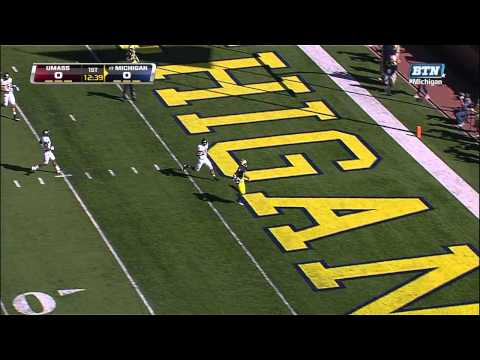 Devin Funchess 27-yard touchdown vs Massachusetts 2012 video.
