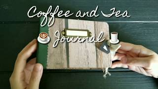 "My first coffee and Tea journal!This little journal measures approx. 4""×6""https://www.etsy.com/hk-en/listing/535626199/coffee-and-tea-journalhandmade-journal"