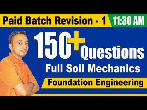 Soil Mechanics Revision Class | Paid Batch | Revison