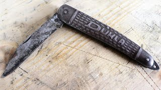 Restoration of the Rusty odd looking pocket knife (using MC-51)