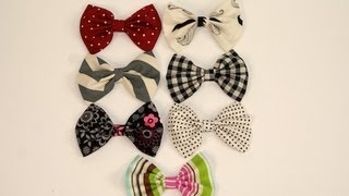 DIY: No-Sew Fabric Hair Bows