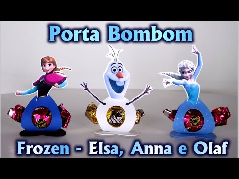 Video Lembrancinha Porta Bombom Tema: Frozen Elsa Anna e Olaf - Disney - Pra Festa / Aniversário - ideias download in MP3, 3GP, MP4, WEBM, AVI, FLV January 2017
