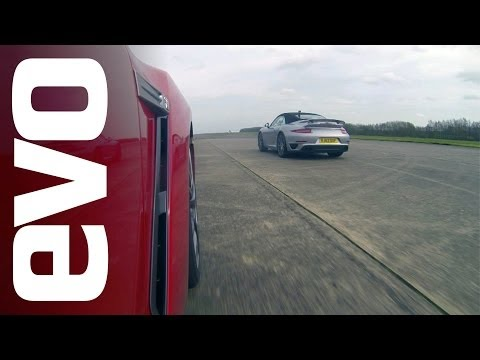 R - The first in the series of our 2014 drag battles! Watch the 911 Turbo Cabriolet take on the Nissan GT-R -- who will win? Don't miss Battle Wednesdays and sub...