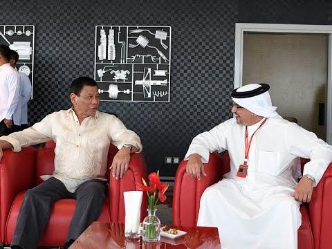 سمو ولي العهد يلتقي الرئيس الفلبيني