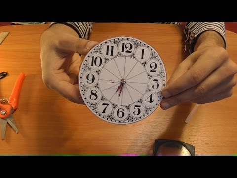 Как сделать часы картон 53