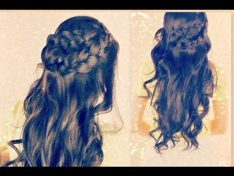 ★BOHO SPRING  LONG HAIRSTYLES| EASY HALF-UPDO WRAP-AROUND BRAID FOR SCHOOL CURLY LONG HAIR TUTORIAL