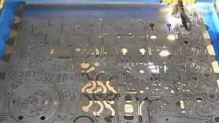 Nested Mechanical Parts Cut On CNC Plasma Table
