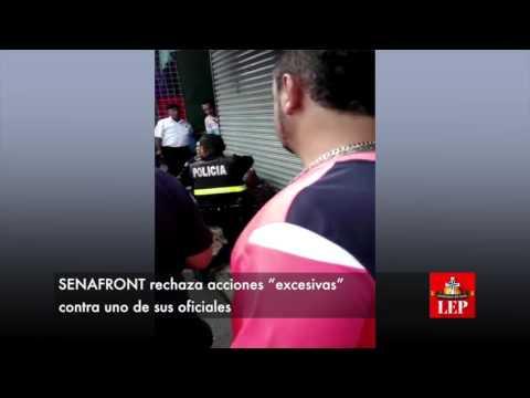 """SENAFRONT rechaza acciones """"excesivas"""" contra uno de sus oficiales"""