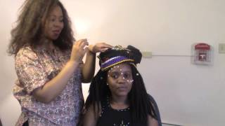 This tutorial shows how Xhosa people decorate their faces with white dot patterns.