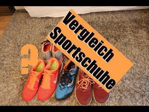Review: Sportschuhe bzw. Laufschuhe im Test / Vergleich von Nike Free, Reebok, Saucony Xodus, Asics