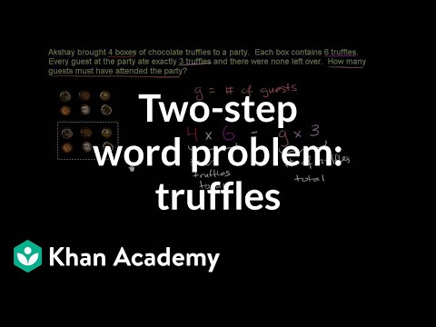 2 Step Word Problem Truffles Video Khan Academy