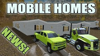 FARMING SIMULATOR 2017 | HAULING MOBILE HOMES | DURAMAX + CAT | NEWS!