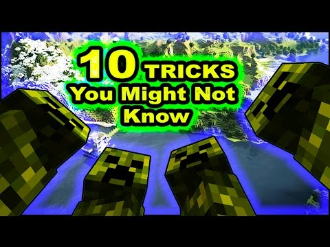 """10 """"BASIC"""" Minecraft Tricks YOU Might Not Know! (Top 10 Tips)"""