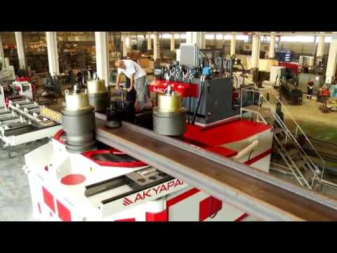 AKYAPAK – APK 800 – Giętarka 3 rolkowa i HEA 800 Test Gięcia