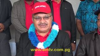 Peter O'Neill was declared as the Ialibu Pangia re-elect MP in Mendi yesterday. O'Neill polled 48, 714 votes, a seventy- eight per cent victory out of the total votes counted. He was declared by Ialibu Pangia Returning Officer Michael Ariando at Momei Oval. visit us at http://www.emtv.com.pg/ for the latest news...