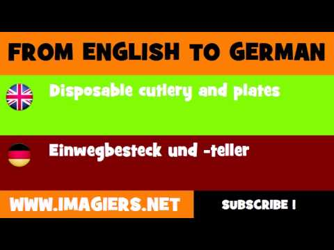 DEUTSCH   ENGLISCH  = Einwegbesteck und  teller
