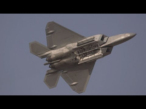 The US Air Force's F-22 Raptor...