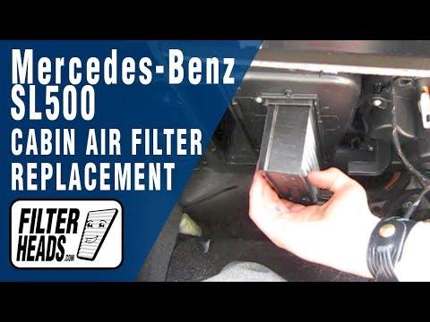 Cabin air filter replacement- Mercedes-Benz SL500