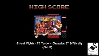 Street Fighter II Turbo: Hyper Fighting [Normal / Difficulty 3] (SNES/Super Famicom Emulated) by gazzhally