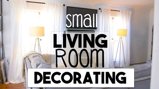 INTERIOR DESIGN: Small Space Decorating!   Making the Most of Our Small LIVING ROOM!