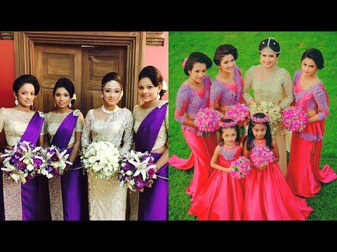 Beautiful Srilankan Bridesmaid Traditional Kandyan Saree Designs Collection  / Bridesmaid Saree