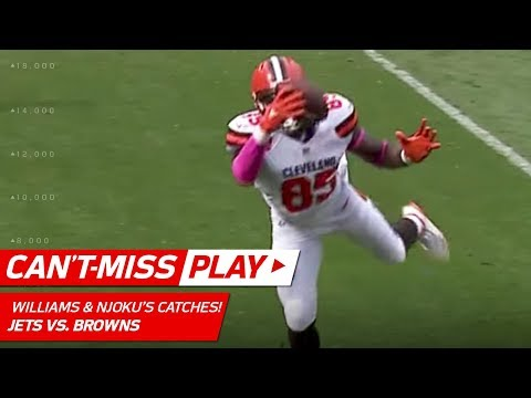 Video: Williams & Njoku Come Down w/ Crazy Circus Catches!