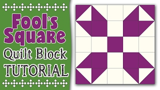 Fool's Square Quilt Block Tutorial: In this quilting tutorial, we teach you how to sew the Fool's Square Quilt Block.---How to Square Up a Half Square Triangle---https://youtu.be/eaFOk3ZKrQ0---FULL WRITTEN INSTRUCTIONS---http://www.alandacraft.com/quilt-block-fools-square/---WATCH MORE QUILT BLOCK TUTORIALS HERE---https://www.youtube.com/playlist?list=PLMxvvtt3Z3CKZx04rEe8Vod1SP1EX767l---FOLLOW US ON---Website: http://www.alandacraft.comFacebook: http://www.facebook.com/alandacraftPinterest: http://www.pinterest.com/alandacraft/Instagram: http://instagram.com/alandacraftTwitter: http://twitter.com/AlandaCraftTumblr: http://www.tumblr.com/blog/alandacraft