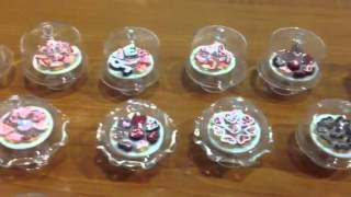 Handmade Miniature Glass cake cover with cupcakes, cakes, s