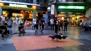 Break Dance - Thai Boys In Jungceylon Phuket Thailand