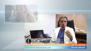 Op. Dr. Mustafa Ali Yanık burun estetiği ameliyatlarında ne tür düzeltmeler yapılabilir ?