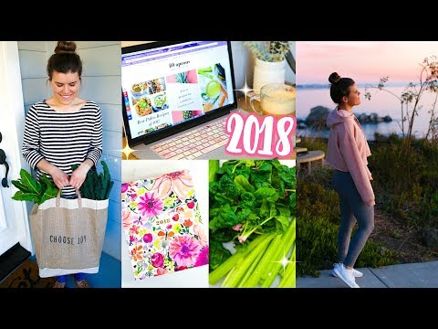 Start a Healthy Lifestyle in 2018! Fitness Tips + Recipes!